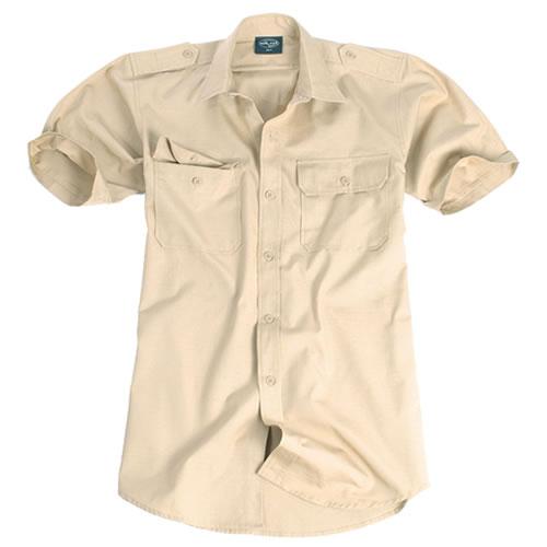 Košile TROPICAL krátký rukáv na knoflíky KHAKI MIL-TEC® 10934004 L-11