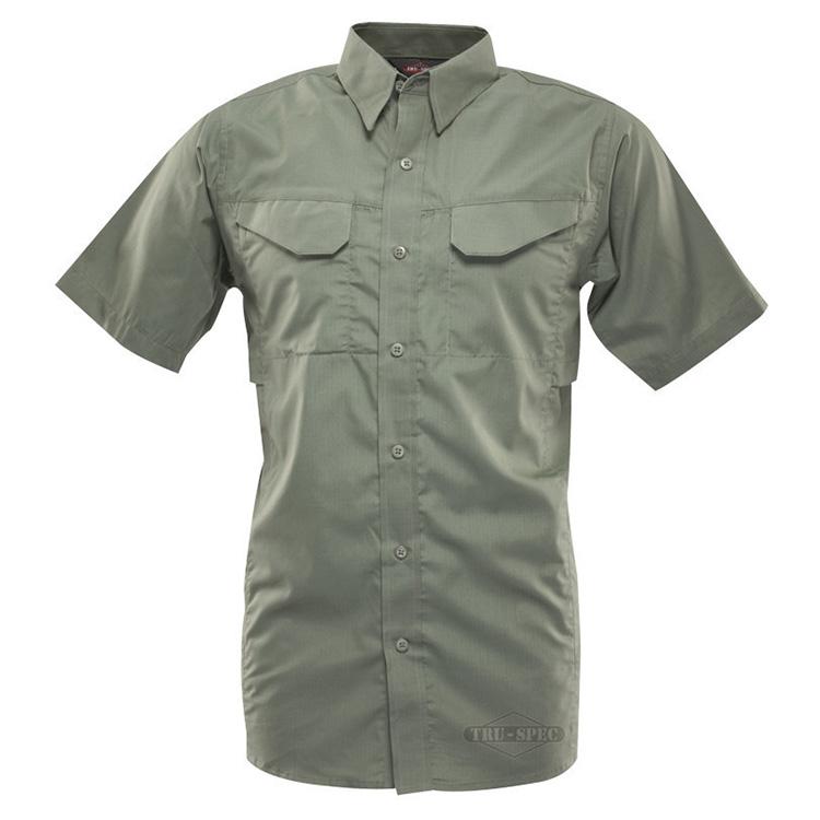Košile 24-7 FIELD krátký rukáv rip-stop ZELENÁ TRU-SPEC 24-7 1094000 L-11
