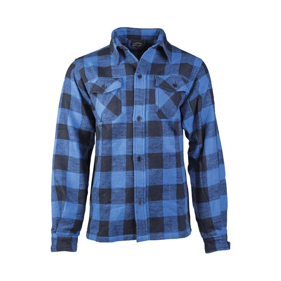 Košile DŘEVORUBECKÁ na knoflíky MODROČERNÁ MIL-TEC® 10940003 L-11