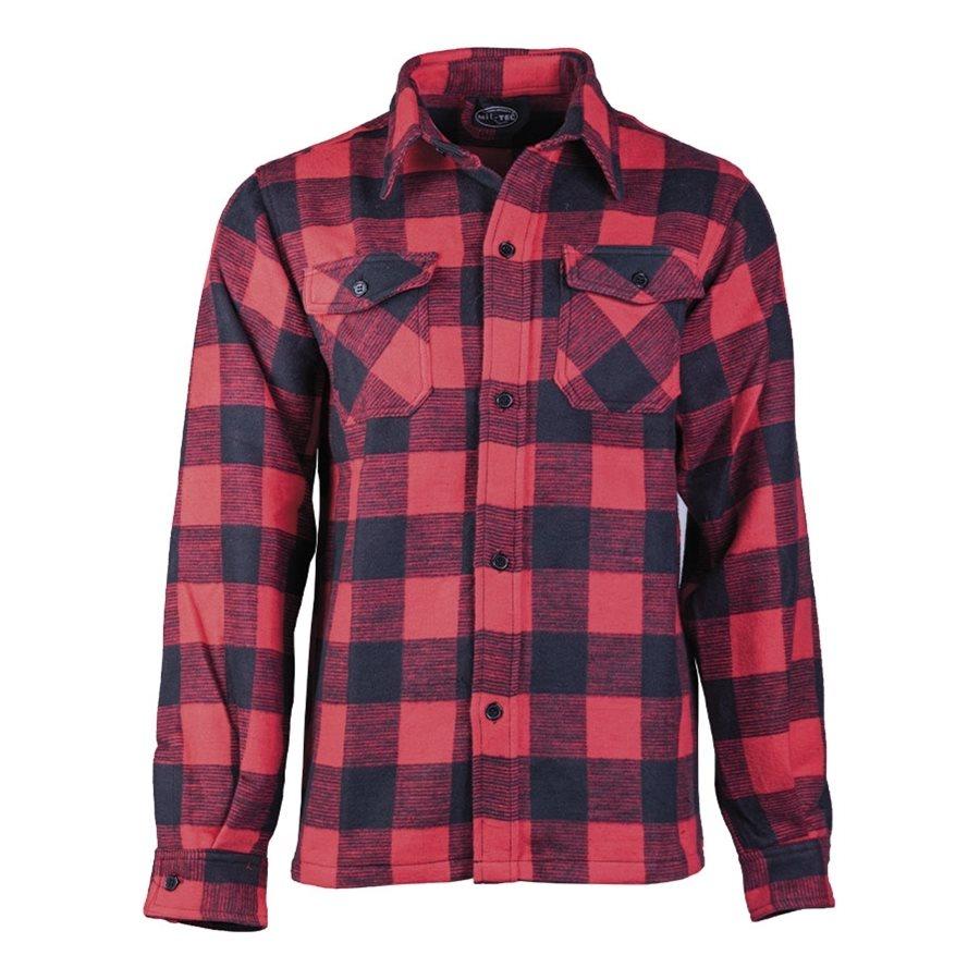 Košile DŘEVORUBECKÁ na knoflíky ČERVENOČERNÁ MIL-TEC® 10940010 L-11