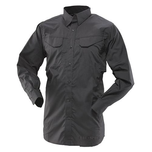 Košile 24-7 FIELD dlouhý rukáv rip-stop ČERNÁ TRU-SPEC 24-7 11010 L-11
