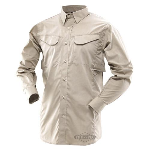 Košile 24-7 FIELD dlouhý rukáv rip-stop KHAKI TRU-SPEC 24-7 11020 L-11
