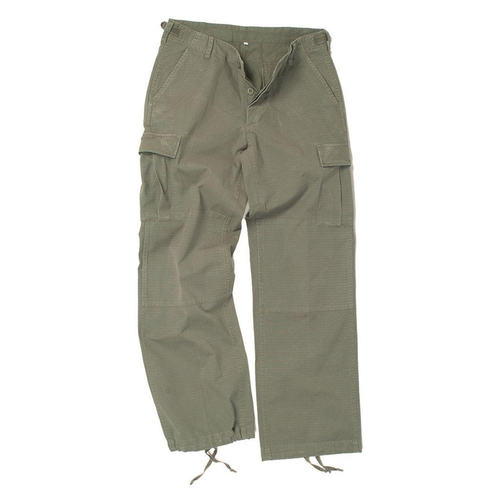 MIL-TEC® | Kalhoty dámské US BDU rip-stop předeprané ZELENÉ vel.L