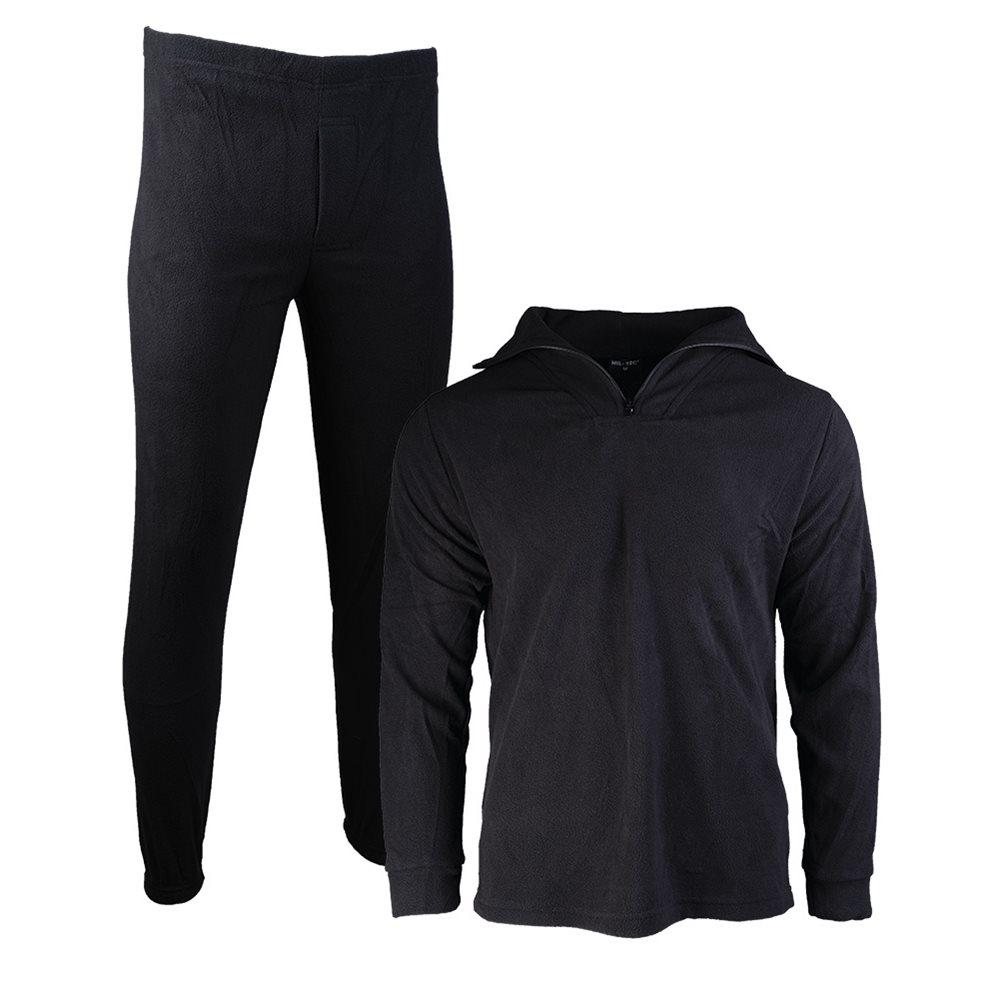 Spodní prádlo THERMOFLEECE se zipem ČERNÉ MIL-TEC® 11220002 L-11