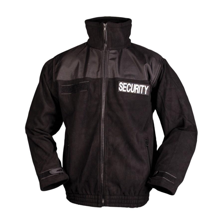 Bunda SECURITY fleece ČERNÁ MIL-TEC® 12056002 L-11