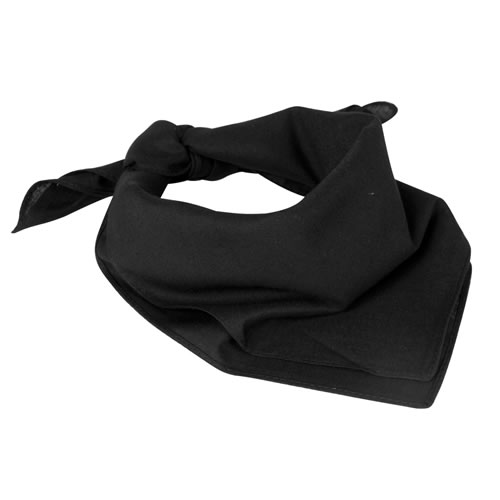 Šátek čtyřcípý 55x55 cm ČERNÝ