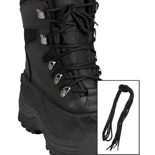 Tkaničky kulaté do bot 140cm ČERNÉ
