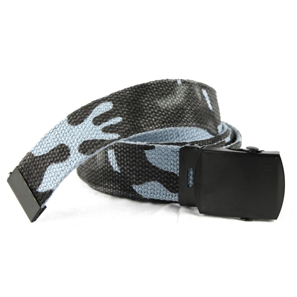 Opasek US kalhotový s černou sponou SKY BLUE CAMO MIL-TEC® 13110023 L-11