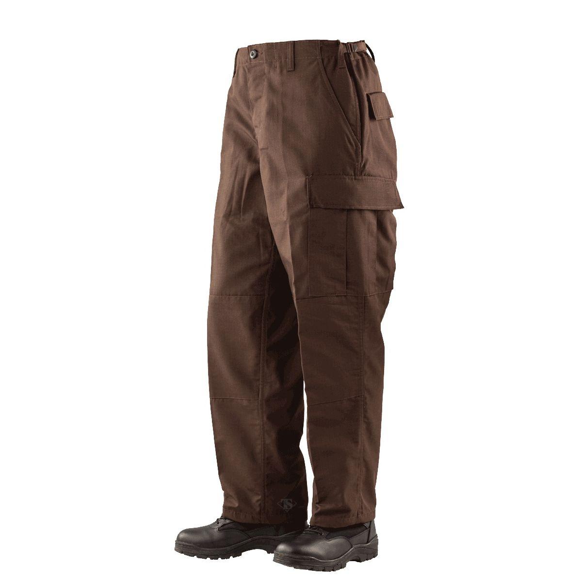 TRU-SPEC | Kalhoty BDU P/C rip-stop HNĚDÉ vel.L-L