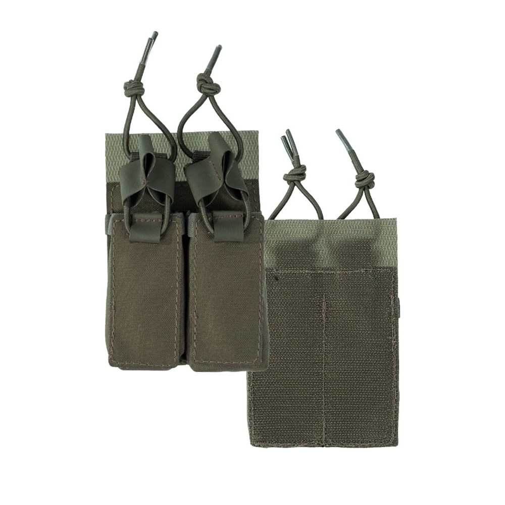 Sumka na pistolové zásobníky uchycení suchý zip ZELENÁ