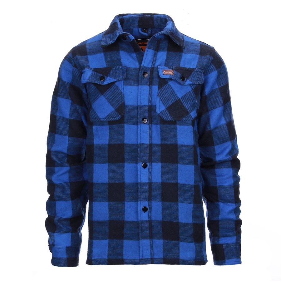 Košile DŘEVORUBECKÁ flanelová MODROČERNÁ FOSTEX 135301BLACKBLUE L-11