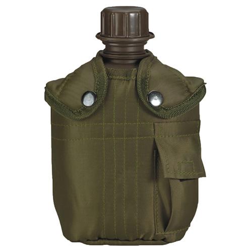 Láhev polní US s obalem s kapsičkou ZELENÁ
