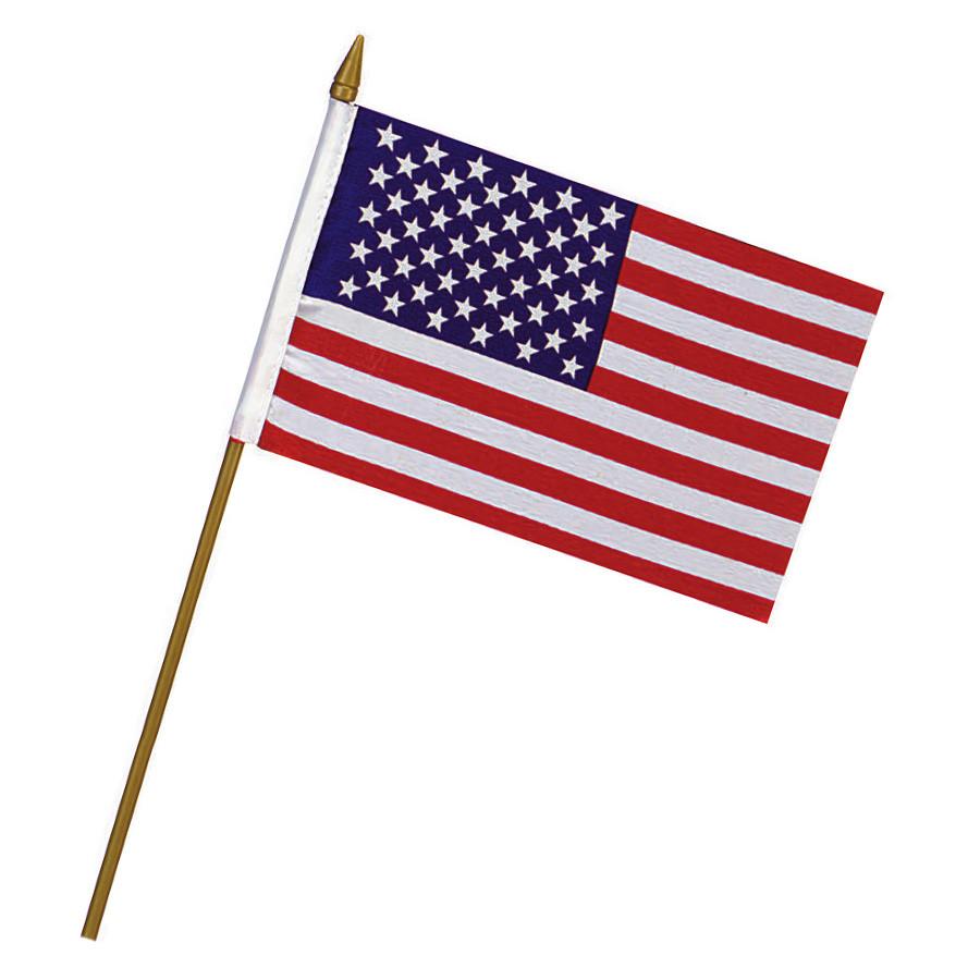 Vlajka na tyčce USA 10 x 15 cm