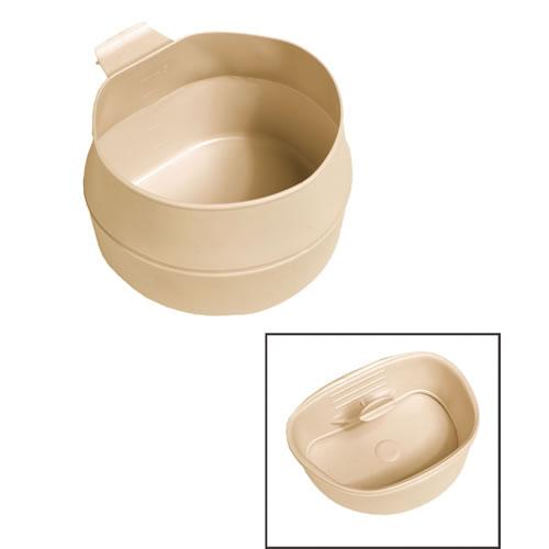 Hrnek skládací ŠVÉDSKÝ FOLD-A-CUP® plastový 200ml KHAKI