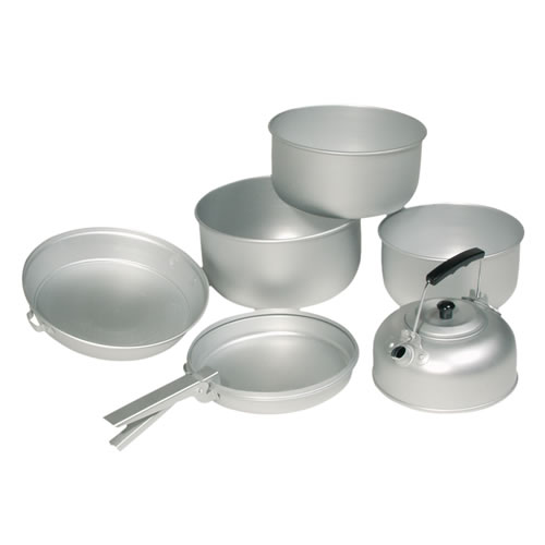 Nádobí ALU na vaření 3 dílná sada s konvicí