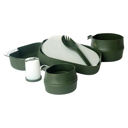 Nádobí jídelní WILDO® Camp-A-Box sada 7 dílů ZELENÉ