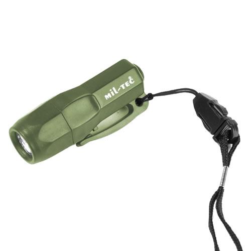 Svítilna MINI 3 LED včetně baterií ZELENÁ