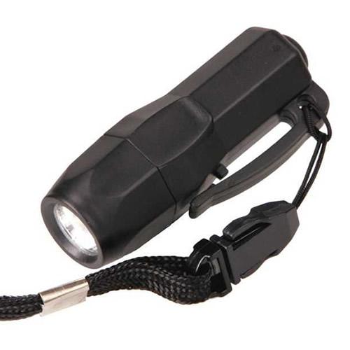 Svítilna MINI 3 LED včetně baterií ČERNÁ