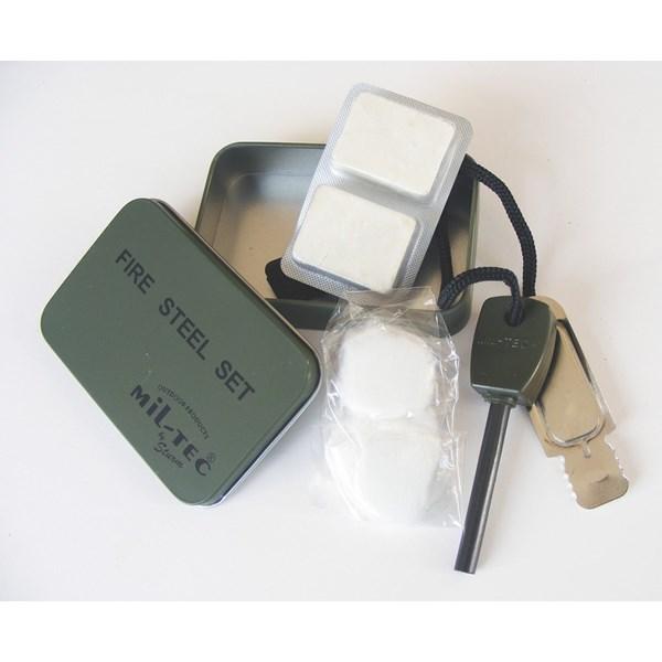 MIL-TEC® Podpalovací set FIRE STEEL v plechové krabičce