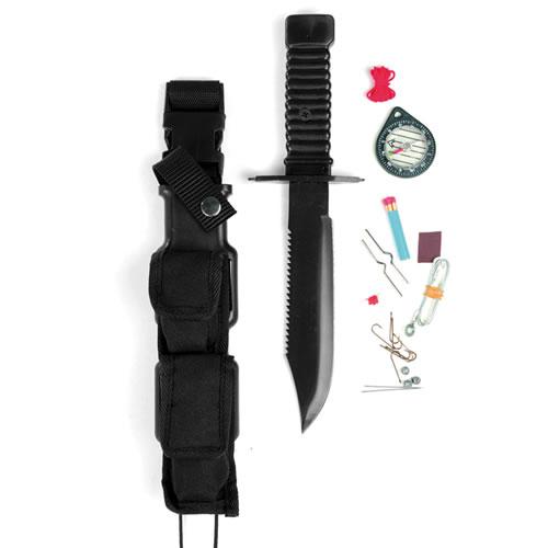MIL-TEC Nůž bojový 'SPECIAL FORCES' na přežití ČERNÝ