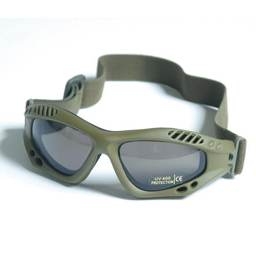 Brýle COMMANDO AIR Mil-Tec ZELENÉ KOUŘOVÉ