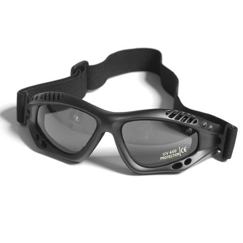 Brýle COMMANDO AIR Mil-Tec ČERNÉ KOUŘOVÉ
