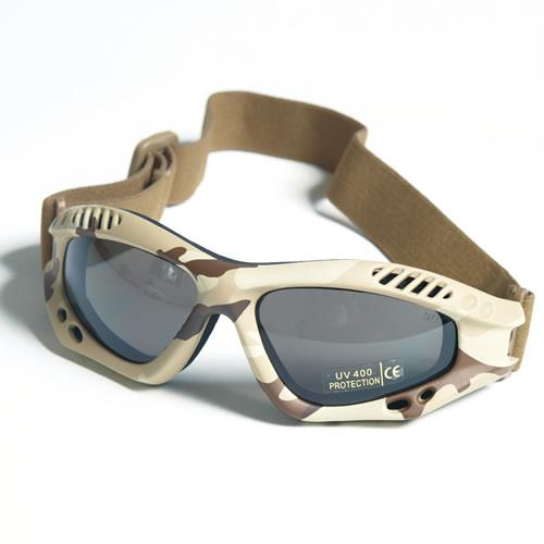 Brýle COMMANDO AIR Mil-Tec 6-COL DESERT KOUŘOVÉ