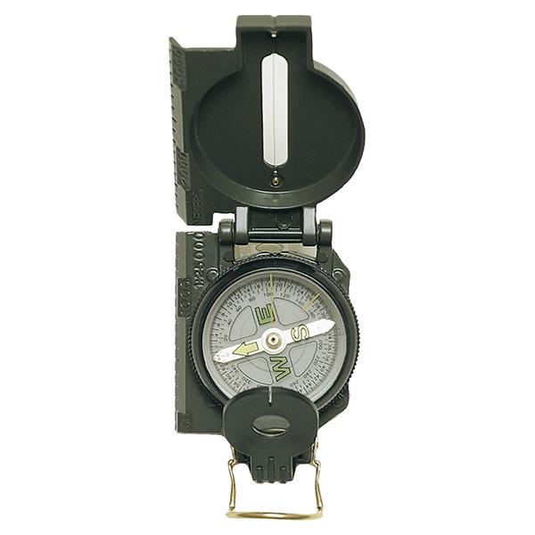 Kompas US kovové tělo ZELENÝ import