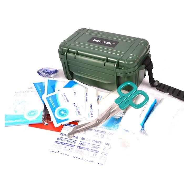 Lékárnička vybavená CAMPING ve vodotěstném boxu
