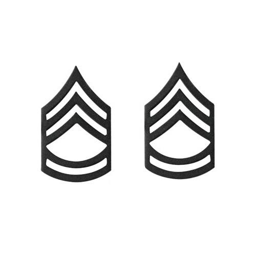 Odznak hodnosti MASTER SERGEANT SUBDUED ČERNÝ