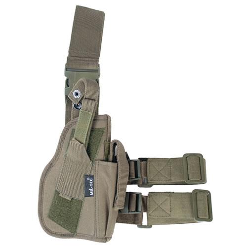 MIL-TEC® Pouzdro pistolové stehenní PRAVÉ ZELENÉ