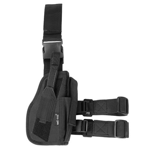 MIL-TEC® Pouzdro pistolové stehenní PRAVÉ ČERNÉ