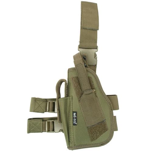 MIL-TEC® Pouzdro pistolové stehenní LEVÉ ZELENÉ