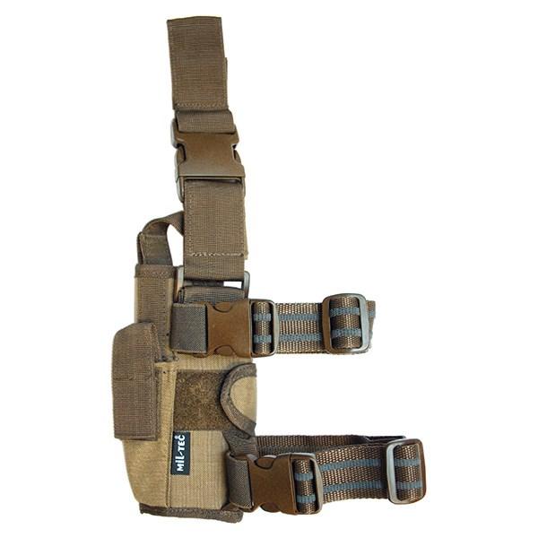 MIL-TEC® Pouzdro pistolové stehenní CORDURA COYOTE