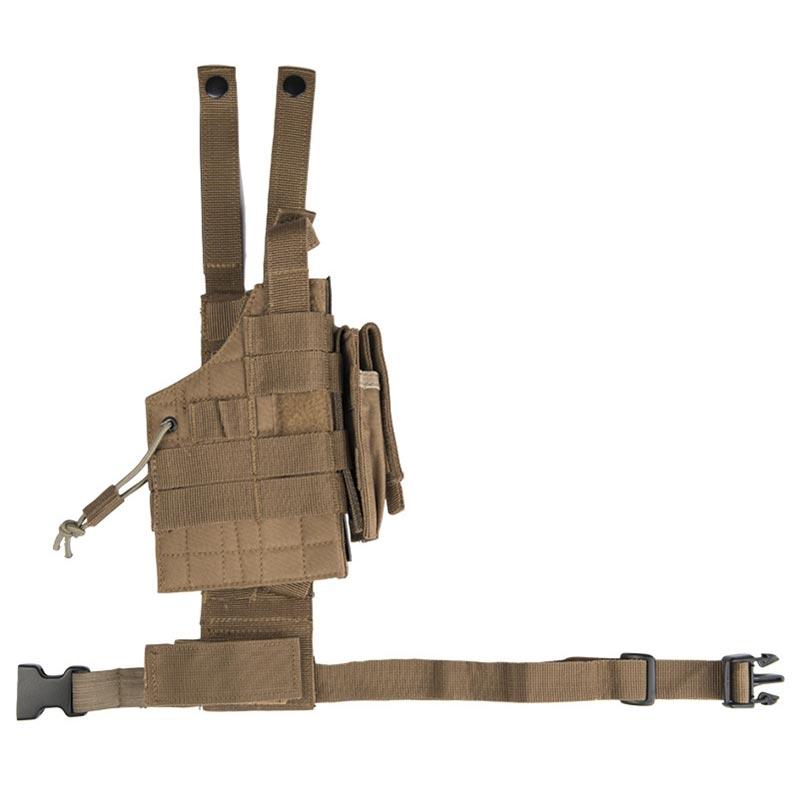 MIL-TEC® Pouzdro pro pistol na stehno oboustranné US MODULAR COYOTE