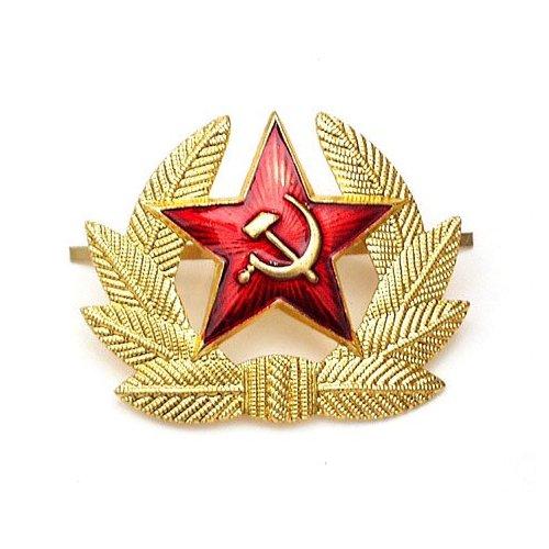 Odznak hvězda /srp a kladivo/ mezi lístky