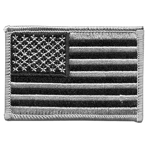 Nášivka US vlajka 5 x 7,5 cm STŘÍBRNÁ