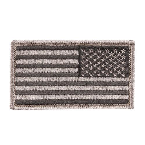 Nášivka US vlajka reverzní ČERNÁ 5 x 7,5 cm