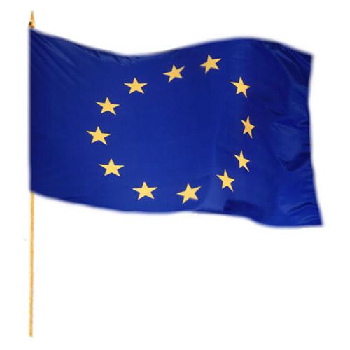 Vlajka na tyčce EU