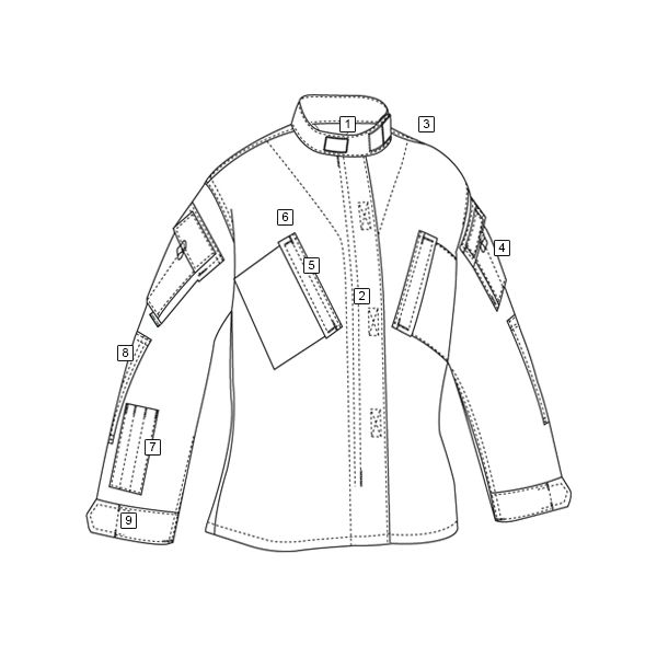 Košile taktická TRU XFIRE FR 80/20 KHAKI TRU-SPEC 16730 L-11
