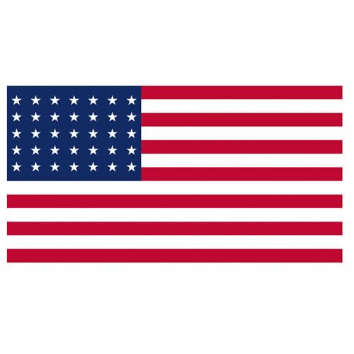 Vlajka USA 48 hvězd