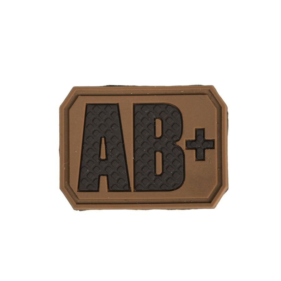 Nášivka plast 3D na suchém zipu krevní skupina AB+ COYOTE