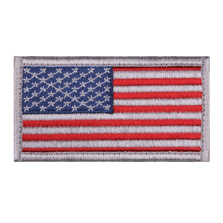 Nášivka US vlajka 4,5 x 8,5 cm BÍLÝ lem
