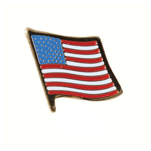 Odznak vlajka USA ZLATÝ