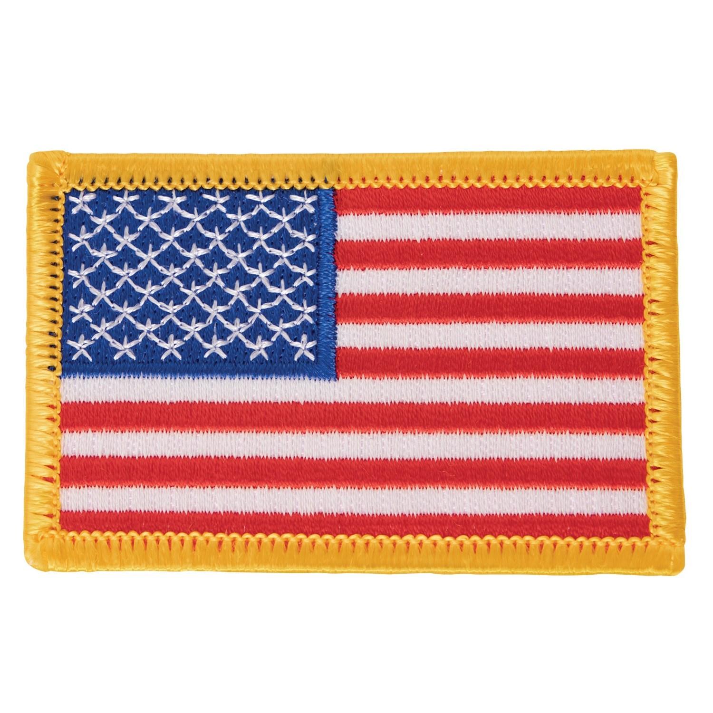 Nášivka US vlajka 5 x 7,5 cm barevná žlutý lem