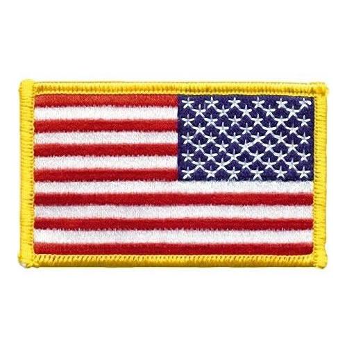 Nášivka US vlajka barevná reverzní 5 x 7,5 cm
