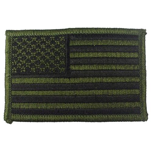 Nášivka US vlajka 5 x 7,5 cm ZELENO-ČERNÁ