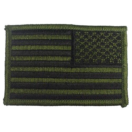 Nášivka US vlajka reverzní 5 x 7,5 cm ZELENO-ČERNÁ