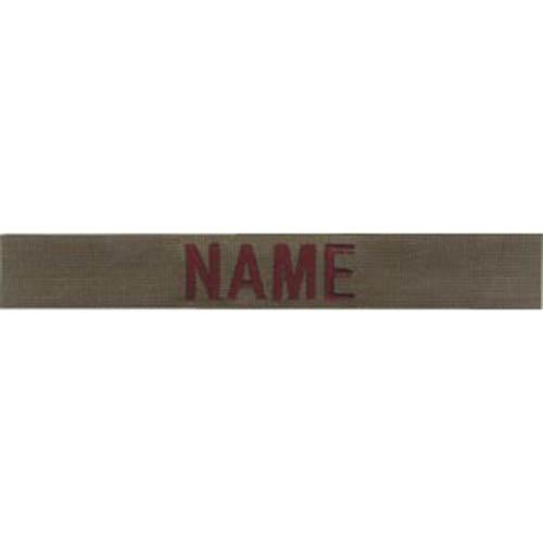 """Nášivka jmenovka 3x """"NAME"""" OLIV"""