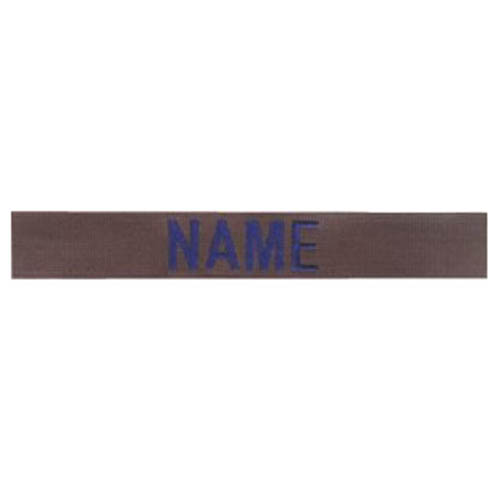 """Nášivka jmenovka 3x """"NAME"""" modrá niť OLIV"""